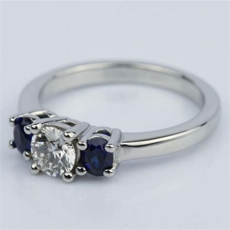 oval sapphire gemstone engagement ring in palladium 0 50 ct