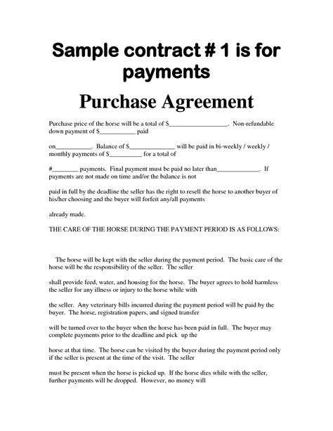 car sale contract with payments template agreement template category page 69 efoza