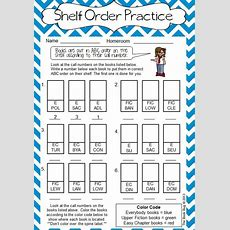 Nonfiction Shelf Order Worksheet  Shelf Order Practice For 2nd3rd  Library Pinterest