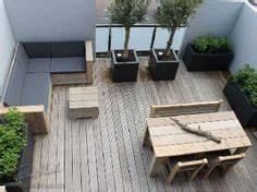 terrasse en bois naturel et bois composite pas cher merlin With idee amenagement jardin rectangulaire 6 petit jardin idees damenagement deco et astuces pratiques