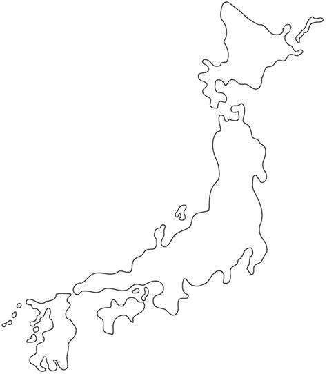 blank japanese map