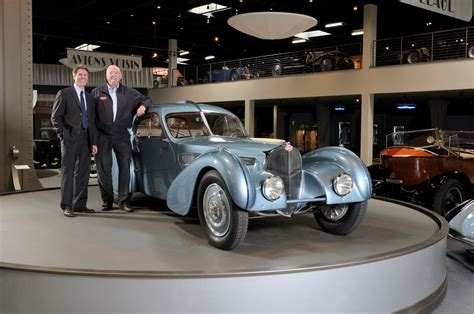 57453, this second black atlantic was finished on 13 december 1936 and was delivered to parisian businessman, mr. The World's Most Expensive Car, 1936 Bugatti Type 57SC Atlantic on Display at the Mullin ...
