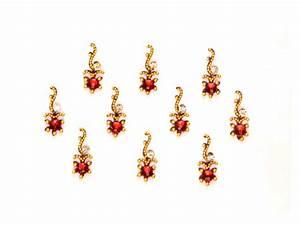 Indian bindi jewelry | Simple Bindi | Red Bindi | stones ...