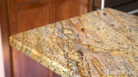 yellow river granite kitchen countertop