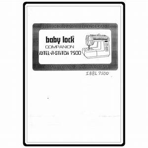 Instruction Manual  Babylock Bl7500 Companion   Sewing