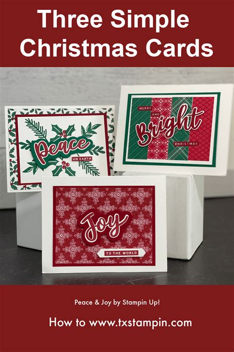 simple christmas cards tx stampin