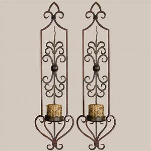 privos metal wall sconce pair with candles With metal wall sconces