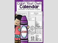 Color Your Own Calendar 2018 Mamas Learning Corner