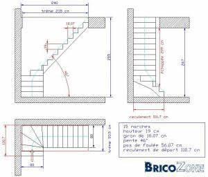 Calcul Escalier Quart Tournant : comment dessiner un escalier 1 4 tournant house plans ~ Dailycaller-alerts.com Idées de Décoration