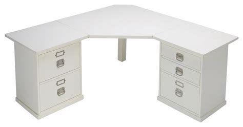 bedford corner desk set traditional desks and hutches by pottery barn