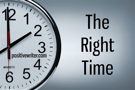It's Time To Discover The Right Time For Your Writing