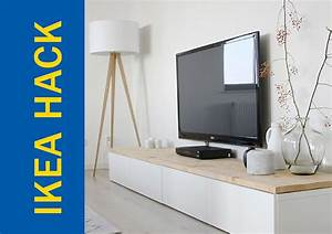 Ikea Table Tv : awesome ikea hack of the week a tv stand that s modern and homey ~ Teatrodelosmanantiales.com Idées de Décoration
