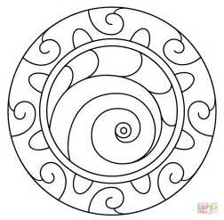 mandala  spiral pattern coloring page  printable coloring pages