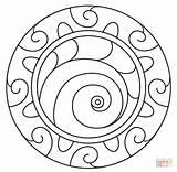 Mandala Spiral Coloring Pattern Mandalas Pages Abstract Printable Template Dot Spirals Drawing Fuer Mosaik Puzzle sketch template