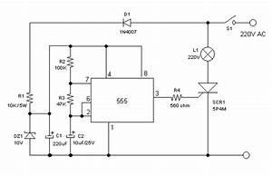 High Voltage 220v Ac Lamp Flasher Using 555 Ic