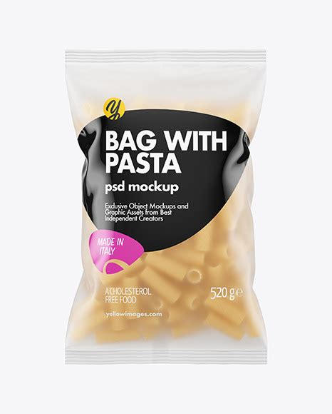 Bags and totes come in handy for a variety of purposes in the business world. Frosted Plastic Bag With Tortiglioni Pasta Mockup in Bag ...