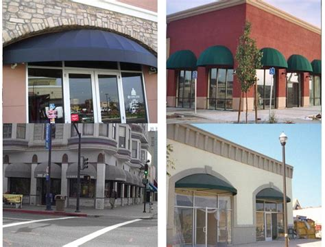 storefront curved awnings js canvas awnings  sacramento