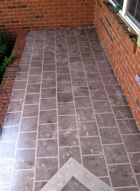 Hometalk  Front Porch Faux Tile
