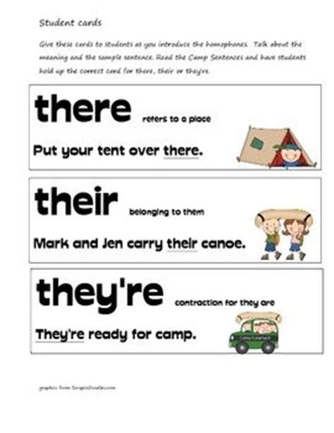 10 Best Images About There Their They're On Pinterest  Bingo, There And Activities