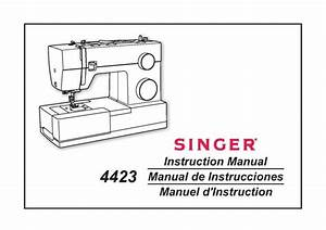 Singer 4423 Sewing Machine Instruction Manual