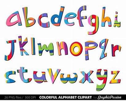 Alphabet Letters Clipart Clip Scrapbooking Digital Alphabets