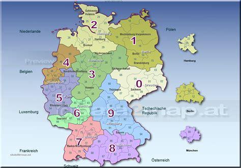 Deutschlandkarte Postleitzahlenkarte Plz-zweistellig Und Orten