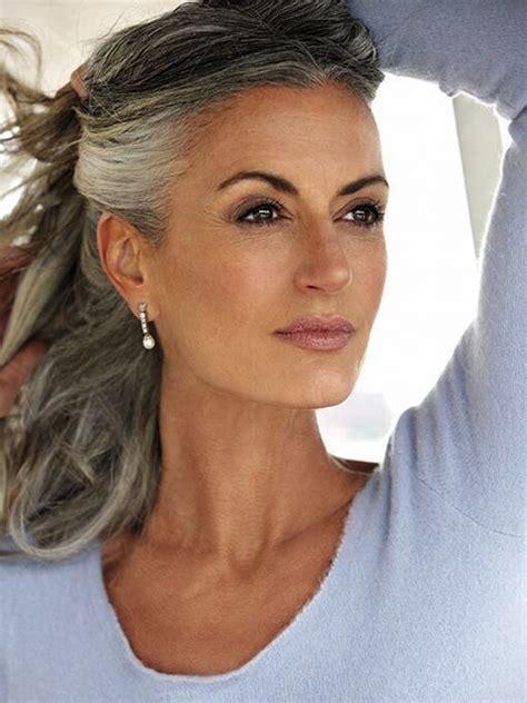 impressive gray hairstyles  women feed inspiration