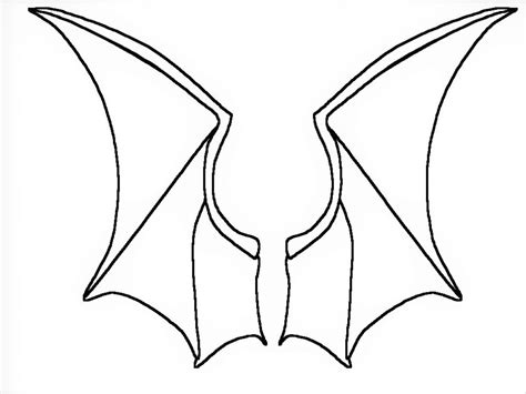 bat wing template printable bat wing cut out template to print