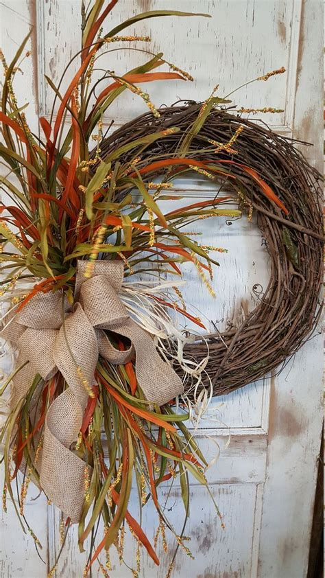 fall front door wreath front door wreath home decor