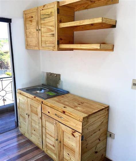 pallet wood kitchen cabinets 50 creative diy wood pallet ideas for this summer 291 | Pallet Kitchen Cabinets