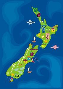 Fun Nz    New Zealand Map  Guide To Go There Someday