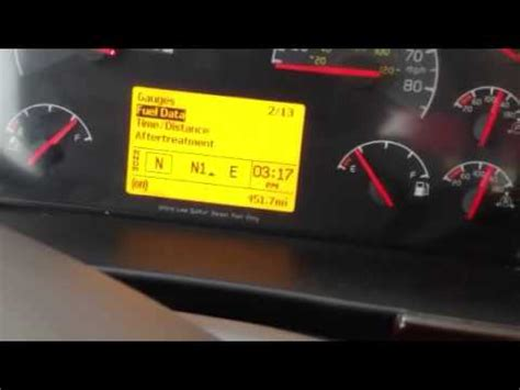 volvo vhd dash function  pto hourmeter access youtube