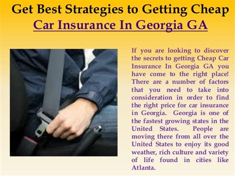 Just fill out the online quote form to get a quick, personalized auto insurance quote today! Cheap Car Insurance in Georgia ga