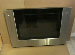 ge monogram  wall oven stainless outer door glass assembly wbt ebay