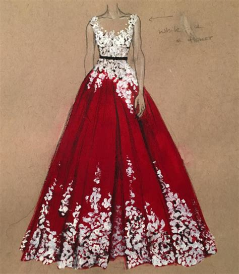 Fashion Design Dresses by Gown Designer Pencil And In Color Gown Designer