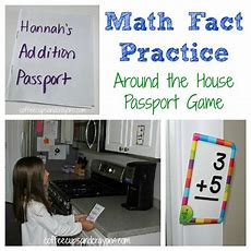 Math Fact Practice Flashcard Passport Game