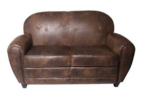 microfibre canapé canapé 2 places en microfibre aspect cuir vieilli