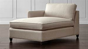 Dryden Left Arm Chaise Lounge Diamond Flax Crate And Barrel
