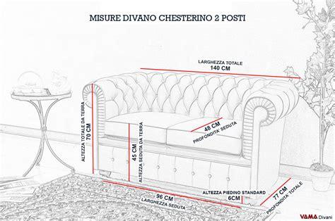 Divano 2 Posti Misure by Divano Chesterfield Con Misure Ridotte Chesterino