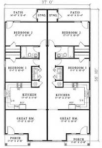 Narrow Lot Duplex Plans Photo by Contemporary Duplex Plan 59370nd Architectural Designs
