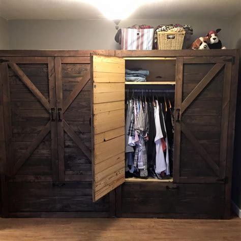 twin wood pallet wardrobe pallet closet pallet