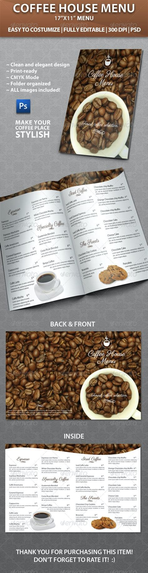Beyond the flavours and comforts of home, power coffeehouse serves as a gathering for hearts and minds. Elegant Coffee House Menu by VMLab | GraphicRiver