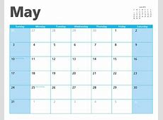 May 2015 Calendar Page Free Stock Photo Public Domain