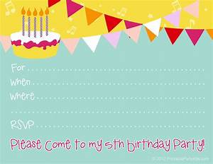 Free Birthday Party Invitations For Girl  U2013 Bagvania