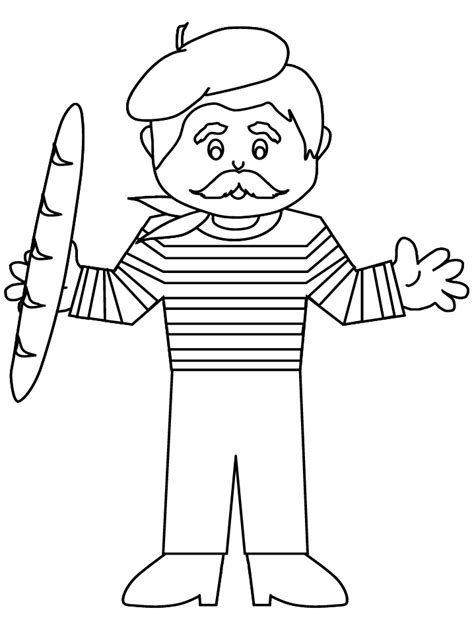 beretboy france coloring pages coloring page book  kids