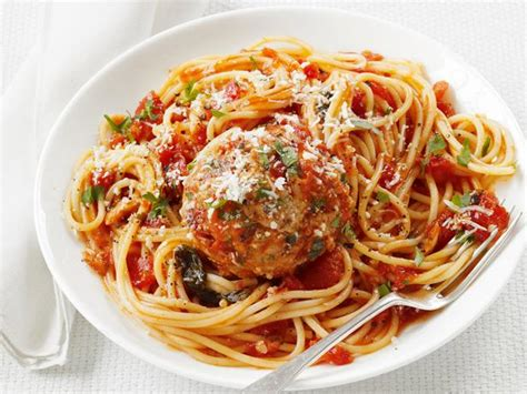 spaghetti  turkey meatballs recipe food network