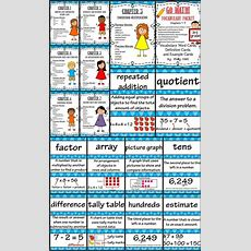 Go Math 3rd Grade Vocabulary Packet  Chapters 17 Definitions, Examples  Math, Third Grade