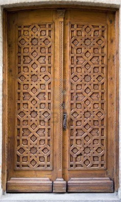 medieval intricately carved door   building  toledo