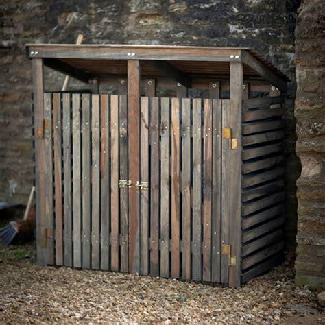 double wheelie bin storage shed garden trading neat