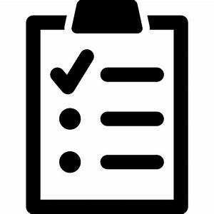 Clipboard with a list Icons | Free Download